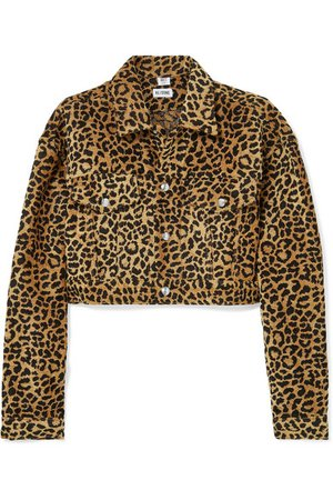 RE/DONE   Cropped leopard-print velvet jacket   NET-A-PORTER.COM