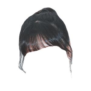 Ponytail Black Hair Bangs PNG