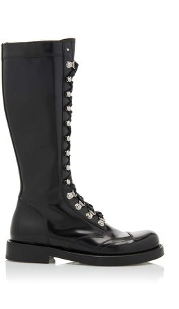 Dolce & Gabbana Leather Knee High Boots