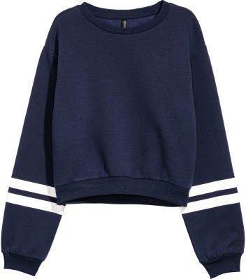 Short Sweatshirt - Blue