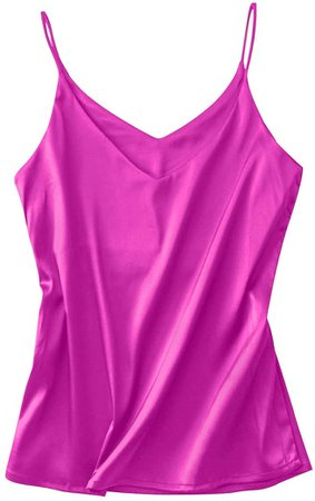 Miqieer Basic Women's Silk Tank Top Ladies V-Neck Camisole Silky Loose Sleeveless Blouse Satin Tank Shirt(Leopard, L) at Amazon Women's Clothing store