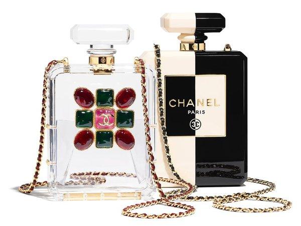Chanel #CHANELFallWinter Perfume Bottle Evening Bags – BAGAHOLICBOY