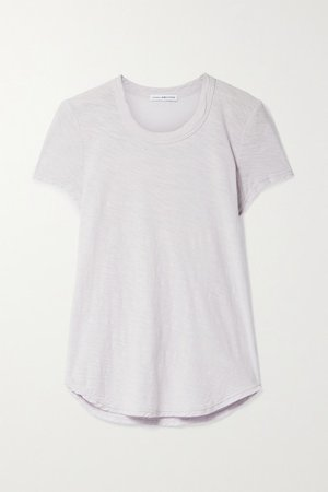 Slub Supima Cotton-jersey T-shirt - Lilac