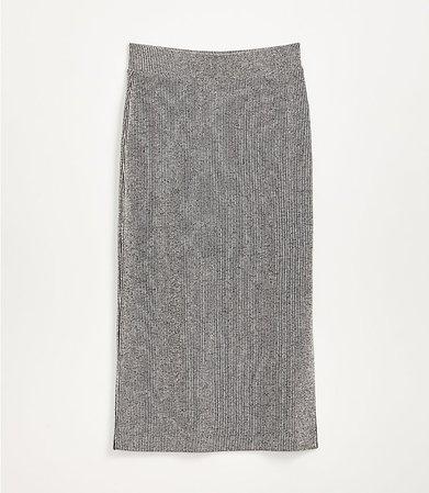 Lou & Grey Ribbed Midi Skirt | LOFT grey