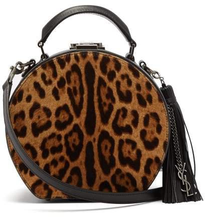 Mica Small Calf Hair And Leather Cross Body Bag - Womens - Leopard