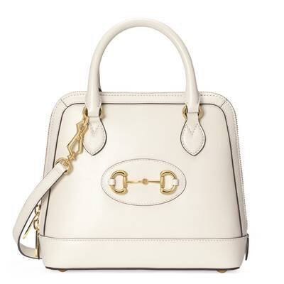 White Gucci Horsebit 1955 small top handle bag | GUCCI® UK