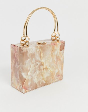 True Decadence structured resin clutch with metal grab handle   ASOS