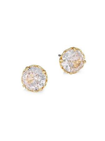 Kate Spade New York Round Faceted Mini Stud Earrings | SaksFifthAvenue