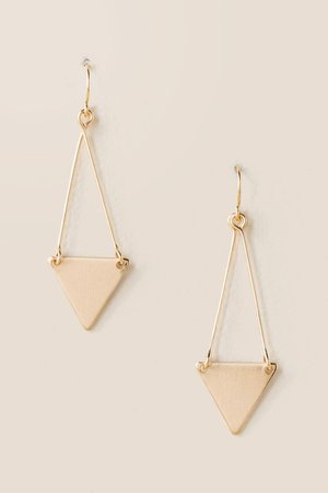Merritt Triangle Drop Earrings | francesca's