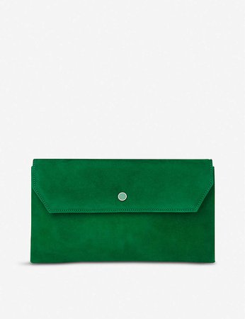 LK BENNETT - Dora suede clutch bag | Selfridges.com