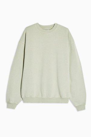 Yellow Relaxed Sweatshirt | Topshop