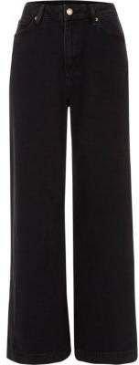 River Island Womens Black wide leg jeans