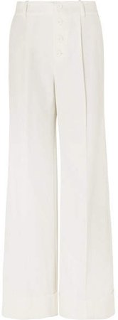 Alice Olivia - Tomasa Crepe Wide-leg Pants - White