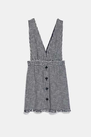 TWEED PINAFORE DRESS WITH STRAPS | ZARA United States