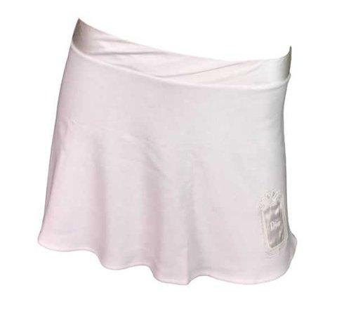 NWT Early 2000's Christian Dior Ivory Monogram Micro Mini Skirt | My Haute Wardrobe