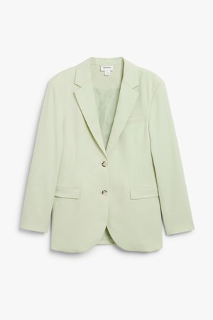 Single-breasted blazer - Light green - Blazers - Monki WW