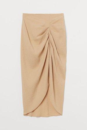 Draped Skirt - Beige