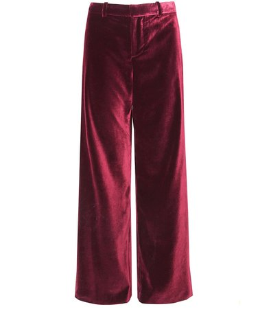 red velvet dress pants