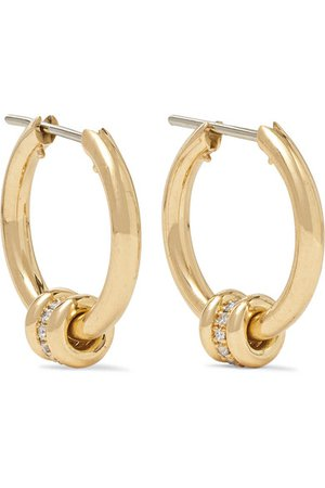 Spinelli Kilcollin | Ara 18-karat gold diamond hoop earrings | NET-A-PORTER.COM
