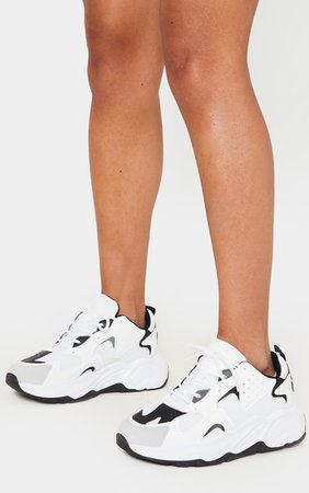 White Chunky Sole Trainers   Shoes   PrettyLittleThing