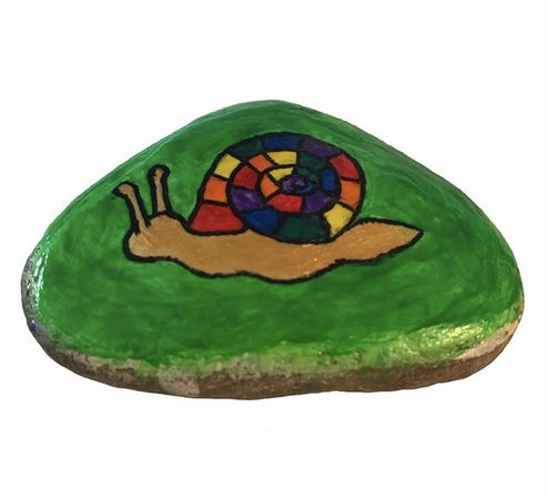 pretty hand painted rock :)
