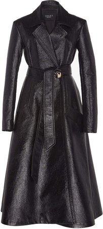 Faux Leather Trench Size: 34