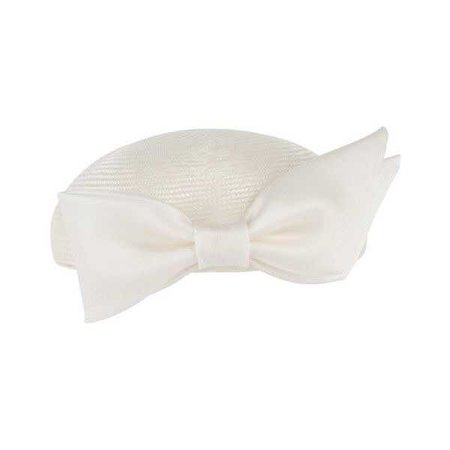 Evie Medium Pillbox Hat with Satin Bow