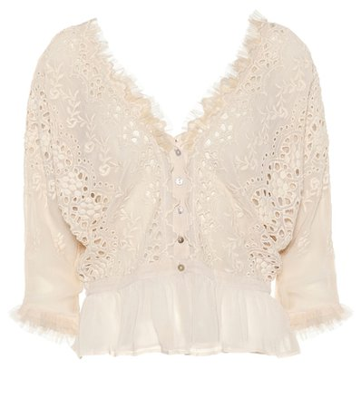 Devon embroidered top
