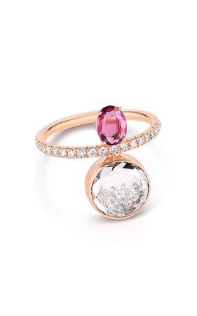 Moritz Glik Pink Sapphire And Diamond Kaleidoscope Shaker Ring
