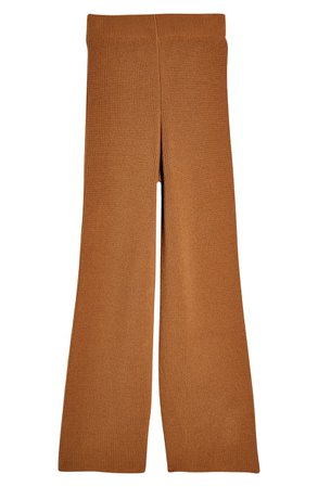 Topshop Co-Ord Flared Knit Trousers brown