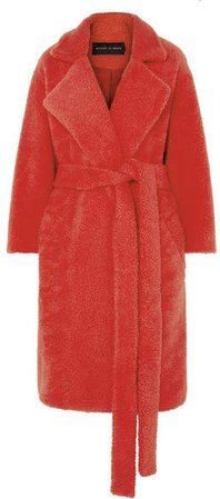 Michael Lo Sordo - Fili Faux Fur Coat - Red