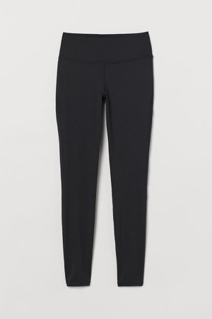 Sports Leggings Shaping Waist - Black
