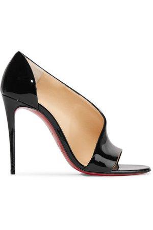 Christian Louboutin   Phoebe 100 patent-leather pumps   NET-A-PORTER.COM