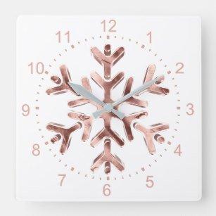 snowflake clock rosegold - Google Search