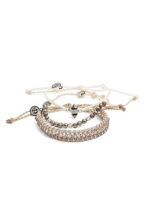 Pura Vida Crystal Forest Assorted 3-Pack String Bracelets | Nordstrom