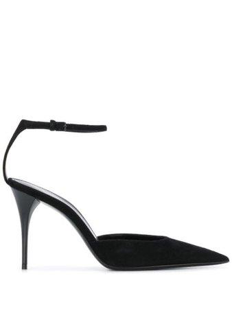 Saint Laurent Pointed Ankle Strap Pumps 603907C2000 Black   Farfetch
