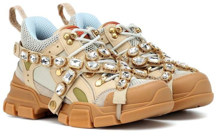 Flashtrek embellished sneakers