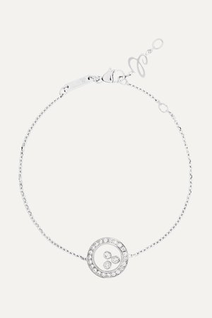 White gold Happy Diamonds 18-karat white gold diamond bracelet   Chopard   NET-A-PORTER