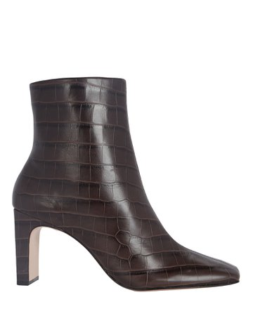 Schutz Marion Croc-Embossed Booties | INTERMIX®