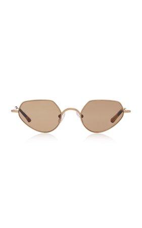 Dries Van Noten Round Stainless Steel Sunglasses