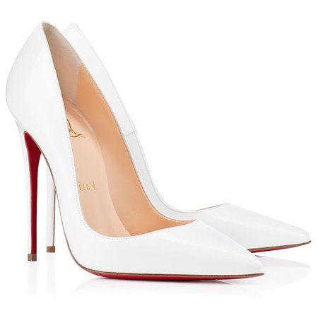 christian louboutin white heels - Google Search
