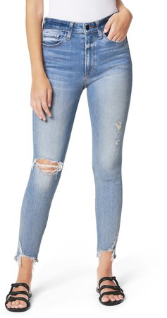The Charlie Ripped Crop Skinny Jeans