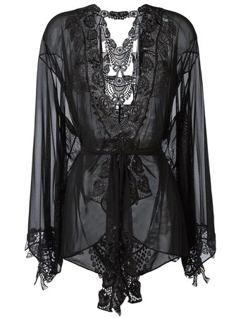MARTY SIMONE   LUXURY LINGERIE - Belle et BonBon   Bisoux kimono robe