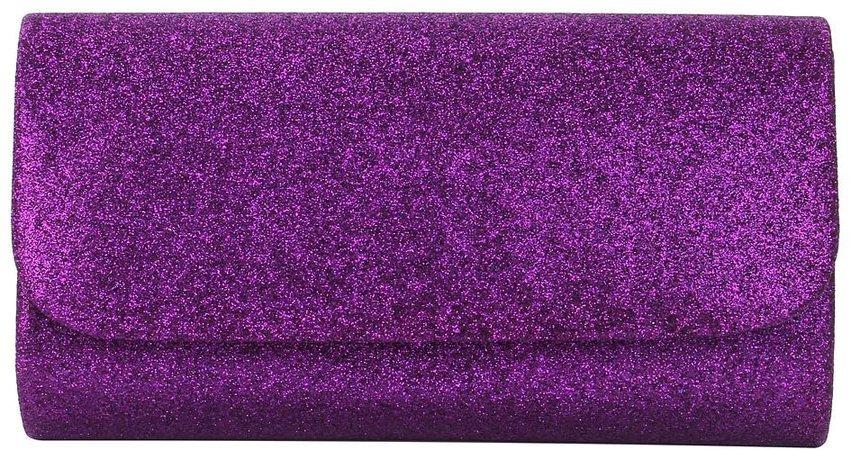 Premium Small Metallic Glitter Flap Clutch Evening Bag Handbag, Purple: Handbags: Amazon.com