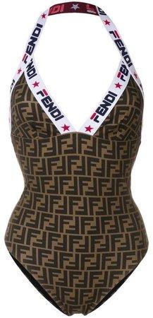 FENDI monogram print swimsuit