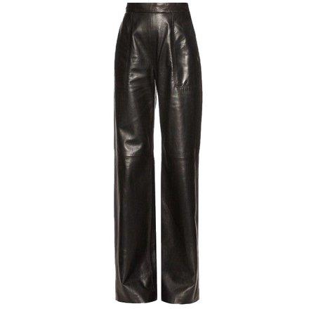Ssense black leather pants