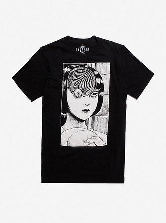 Junji Ito Uzumaki Spiral Eye T-Shirt