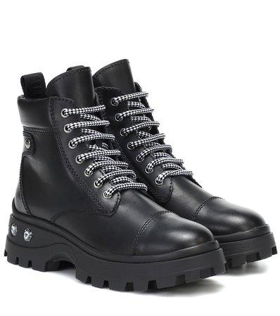 Miu Miu - Embellished leather ankle boots | Mytheresa