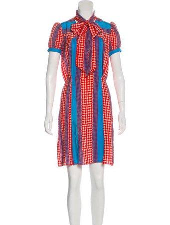 Anna Sui Silk Printed Dress - Clothing - ANA24612   The RealReal