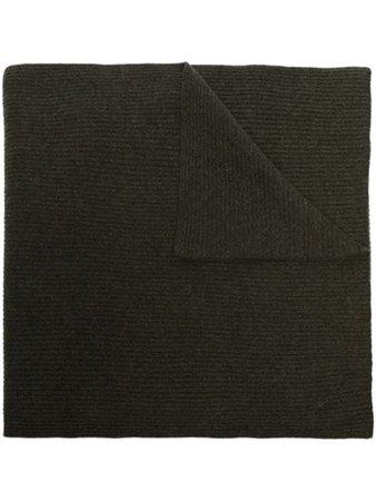 GANNI ribbed-knit Scarf - Farfetch